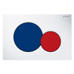 Geberit Sigma01 White/Blue/Red Dual Flush Plate - 115.770.LB.5